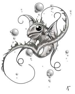 Happy Fishy   B&W Graphics/illustration art prints and posters by