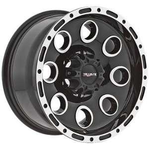 Ballistic Bullet 15x8 Black Wheel / Rim 6x5.5 with a  27mm