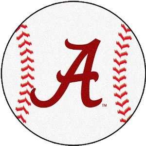 Fanmats Alabama Crimson Tide Baseball Shaped Mat Sports