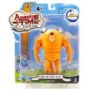 Adventure Time 5 Inch Action Figure Finn in Jake Suit