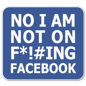 No Facebook Funny car bumper sticker 4 x 4 Automotive