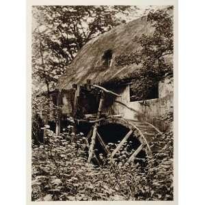 1924 Water Wheel Mill Mols Femmoller Denmark Danmark