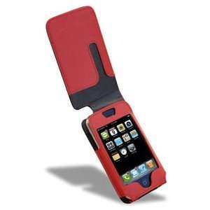 Covertec SX22812 Leather Flip Case for iPhone   Black/Red