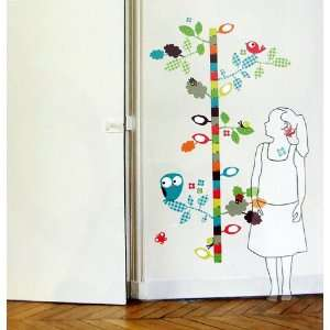 Birdy Height Gauge Growth Chart Wall Stickers Removable