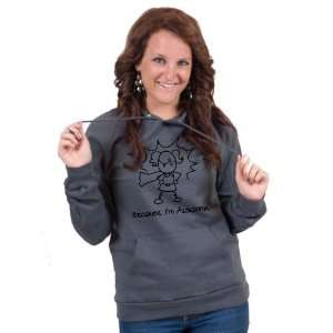 Awesome Girl Black American Apparel Pullover Hoodie