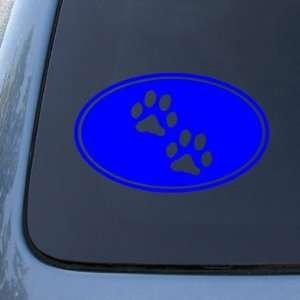 Dog Cat   Vinyl Decal Sticker #1543  Vinyl Color Blue Automotive