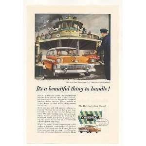 1956 Chevy Bel Air 2 Door Sedan Bridgewater Ship Print Ad