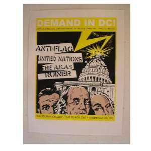 Anti Flag Anti Flag SilkScreen Poster Presidents