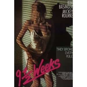 9 1/2 Weeks Movie Poster (27 x 40 Inches   69cm x 102cm