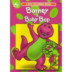 Baby Bop (A Big Coloring Book) (9780307030337): Golden Books: Books