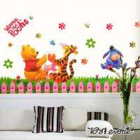 Disney Winnie The Poohs Partner Clap for Nursery Baby Kid Room Wall
