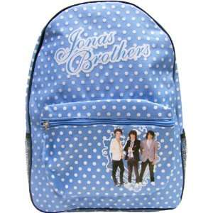 Jonas Brothers Light Blue Polka Dots Backpack Bag Toys