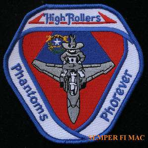 PHANTOM 192 TRS HIGH ROLLERS PATCH US AIR FORCE ANG |