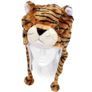Plush Soft 3D Animal Trooper Trapper Hat Ear Flaps Fleece Liner Light