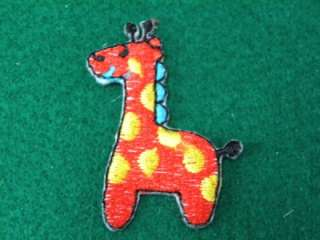 FANCY GIRAFFE ZOO IRON ON PATCH EMBROIDERED I275