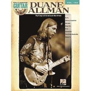 Duane Allman   Guitar Play Along Volume 104   Book and CD