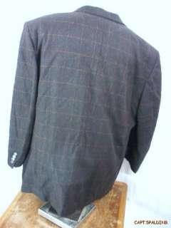 Belvest.Wool/Cashmere Sport Coat Jacket Blazer.Mens 52 L. Dark Brown