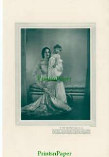 1930 Juliette Compton Silent Film Star and Child Print