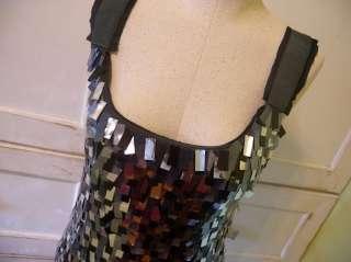 Crew Merino Wool Pailllette Sweater Dress S pewter