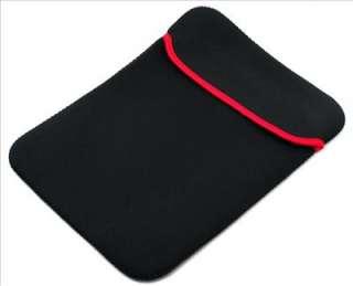 14.1 Notebook Laptop Neoprene Sleeve Case Black Red