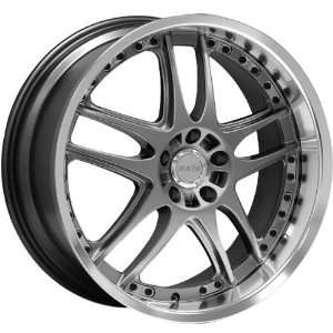 19x9.5 Axis Matrix (Hyper Black w/ Diamond Polished Lip) Wheels/Rims