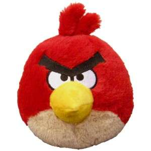 Angry Birds 5 Plush Red Bird with Sound   Hot Holiday Toy   Brand New