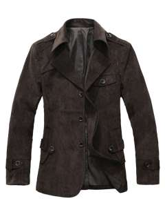 New Mens Slim Fit Autumn Winter Trendy Casual Designed Belted Suit