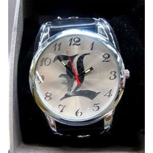 DEATH NOTE L Black Band Wrist Watch Toys & Games