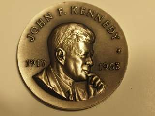 VTG MEDAL JFK JOHN F KENNEDY CATHOLIC DIGEST STERLING SILVER COIN 1917