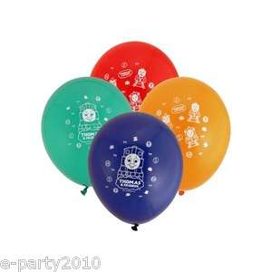 THOMAS the TANK ENGINE Latex BALLOONS ~ Train Birthday Party