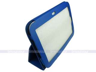Blue Leather Case+Screen Protector+Stylus for Lenovo IdeaPad Tablet K1