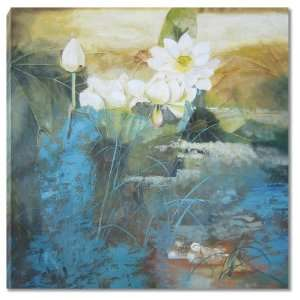 Blue Lotus Pond (36x36)