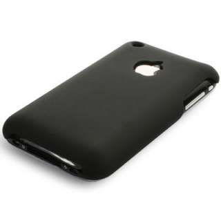 Soft Touch Hard Back Case Black For Iphone 3G 3G S