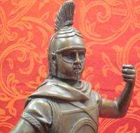 Art Deco Bronze Sculpture Statue Figure Spartan Warrior Roman