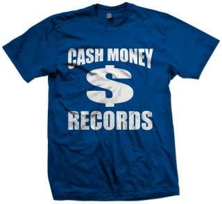 CASH MONEY RECORDS T SHIRT MONEY WAYNE YOUNG WEEZY LIL RAP NEW HIP HOP