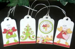 you will receive eight hang tags each 4 x 2 and printed