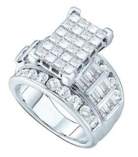 14K LADIES WHITE GOLD DIAMOND BRIDAL ENGAGEMENT WEDDING BAND RING 4.0