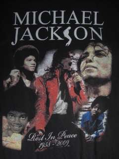 MICHAEL JACKSON KING OF POP REST IN PEACE 1958 2009 ADULT M