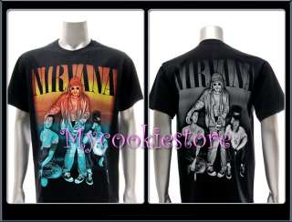 Nirvana Kurt Cobain T shirt Rock Band Tour Music Concert 1967 1994