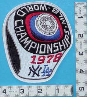 NEW YORK YANKEES 1978 WORLD SERIES CHAMPIONSHIP RING PATCH MLB