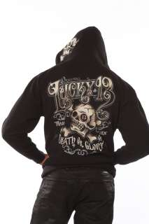Lucky 13 Ye Old Death and Glory Hoodie Mens Hooded Sweatshirt full