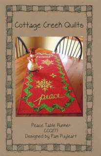 quilts peace table runner pattern finished size 20 x 49