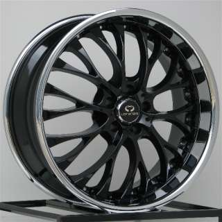 22 Inch Wheels Rims Black Dodge Charger Chrysler 300 300C AWD 5x115