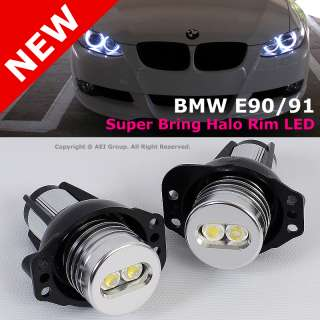 BMW E90 E91 3 Series Replacement Super Bring Angel Eye Halo Rim LED