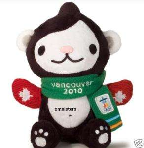 2010 Olympic Winter Games Mascot Miga Red mittens Plush