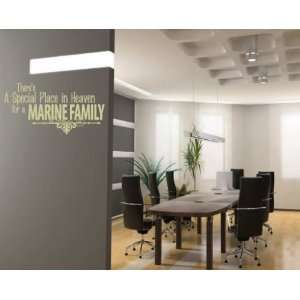 Marine Family Patriotic Vinyl Wall Decal Sticker Mural Quotes Words