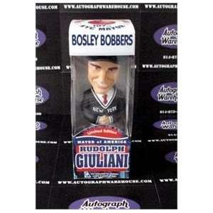 Rudy Giuliani Bobble Head Bosley Bobber   box in poor condition