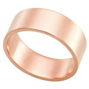 14Kt Rose Gold Wedding Band Ring on Sale FSTF08MWR, Finger Size 11.75