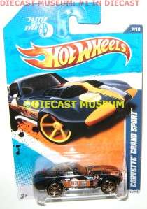 CORVETTE GRAND SPORT HOT WHEELS DIECAST 2010 2011