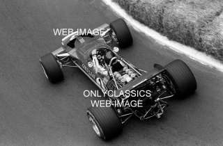 69 JOCHEN RINDT LOTUS AUTO RACING COOL VIEW RACE PHOTO